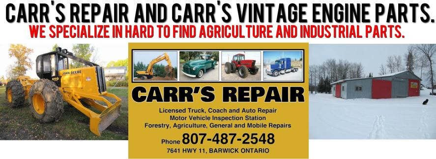 CARR'S REPAIR,VINTAGE PARTS - HOME